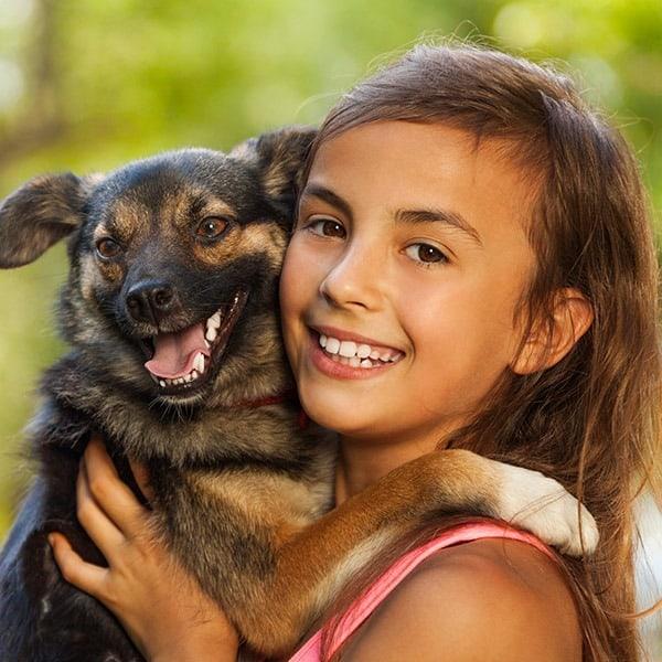 child-girl-dog