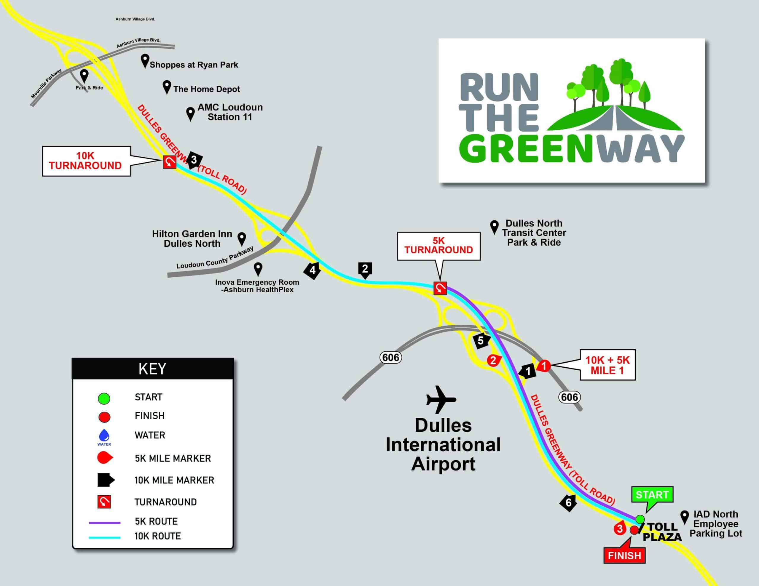 Dulles Greenway Race Map